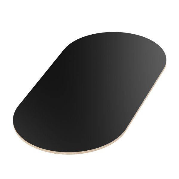 Multiplexplatte Holzplatte Tischplatte Oval melaminbeschichtet schwarz