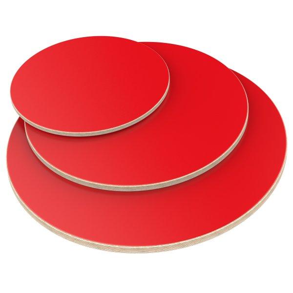 Auprotec Plateau de table multiplex 18 mm avec rayon dangles 100 mm rev/êtu de m/élamine Blanc