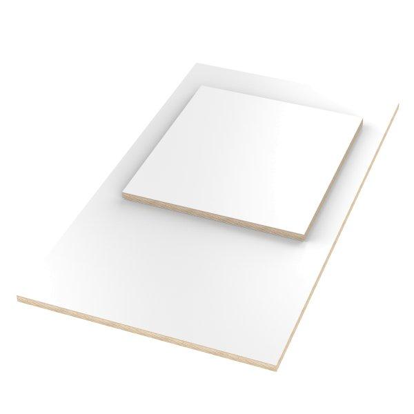 Multiplexplatte Holzplatte Tischplatte Birke melaminbeschichtet weiß