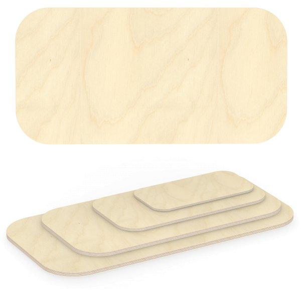 Multiplexplatte Holzplatte Tischplatte Birke