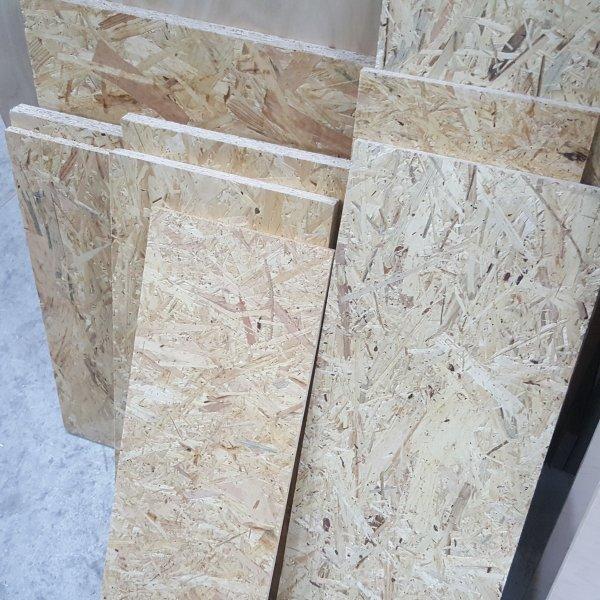 1m² Reste 18mm OSB/3 Platten Zuschnitt Holz Grobspanplatte