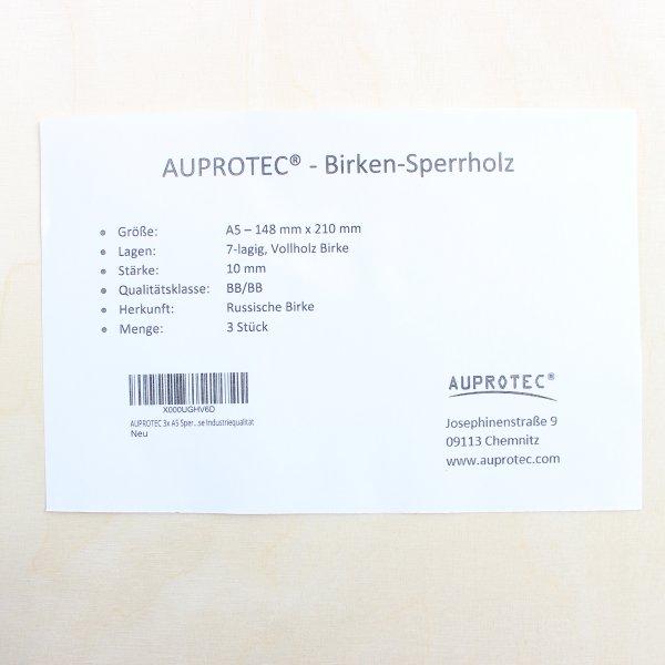 10mm Sperrholz-Platten im Format DIN A5 bis DIN A1