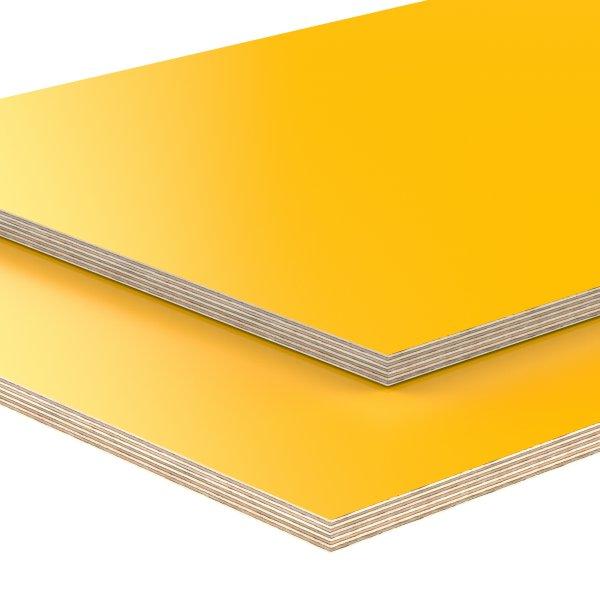 Multiplexplatte Holzplatte Tischplatte Birke melaminbeschichtet gelb