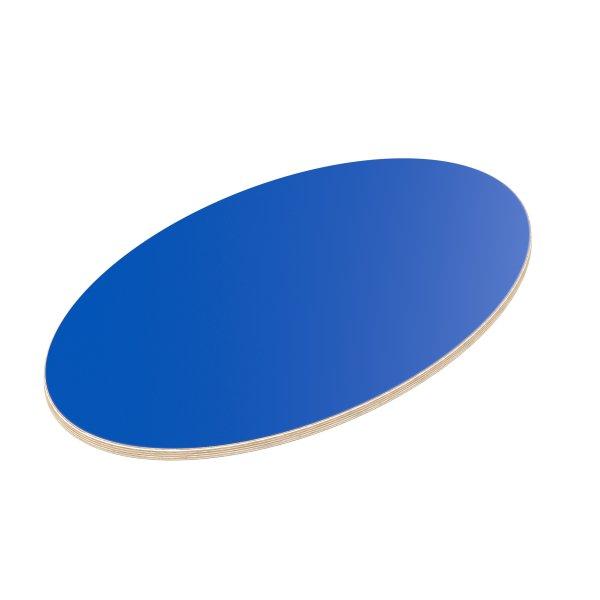 Multiplexplatte Holzplatte Tischplatte Ellipse melaminbeschichtet blau